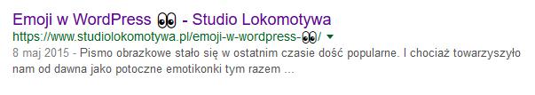 emoji emotki w google meta title